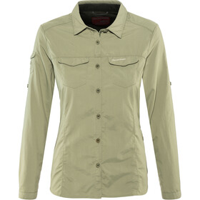 Craghoppers NosiLife Adventure II Longsleeve Shirt Dames, soft moss